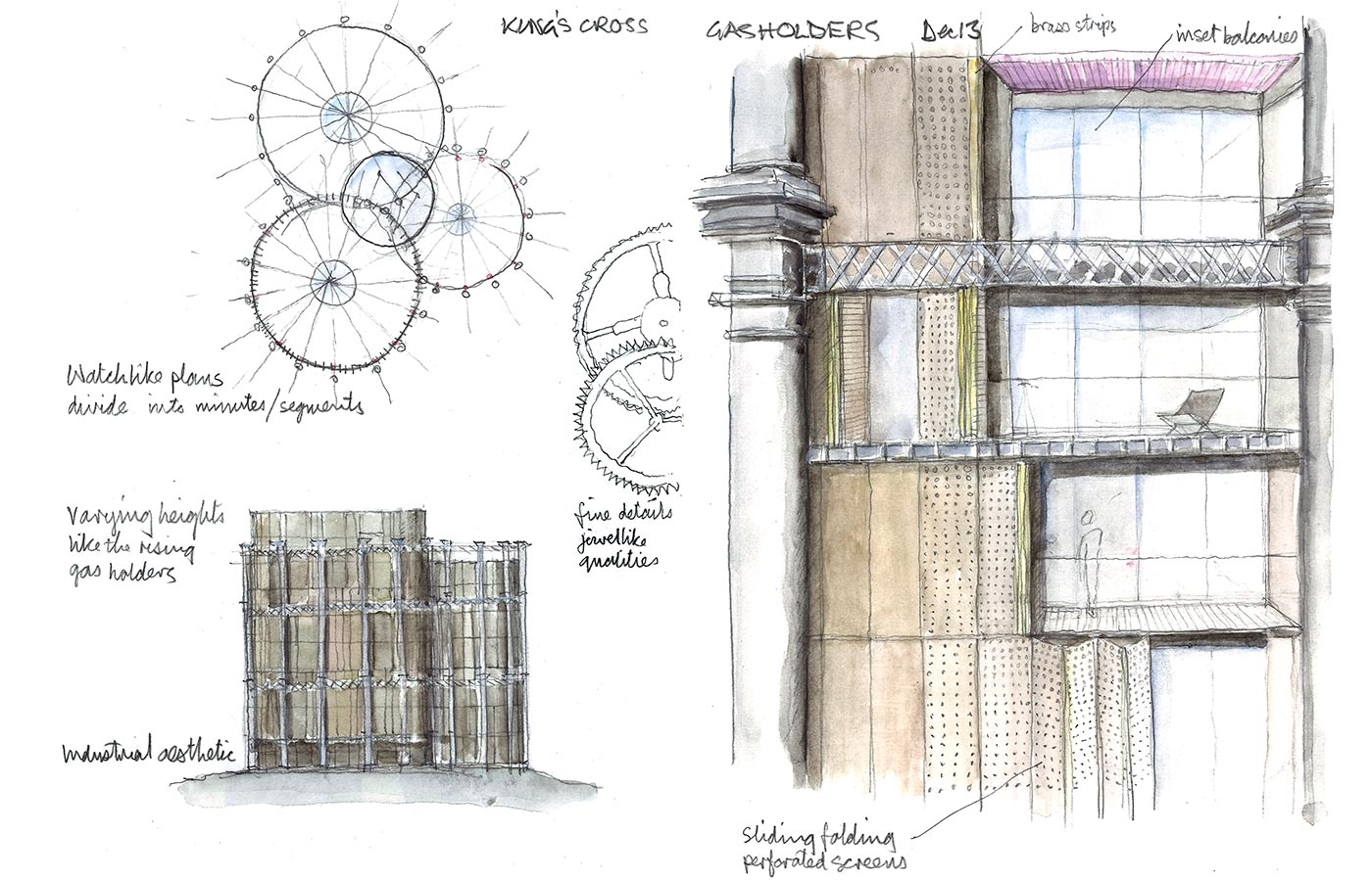 Similarly At Kings Cross We Are Working On The Design For Gasholder Triplet Which Has Apartments Constructed Within Cast Iron Frameworks