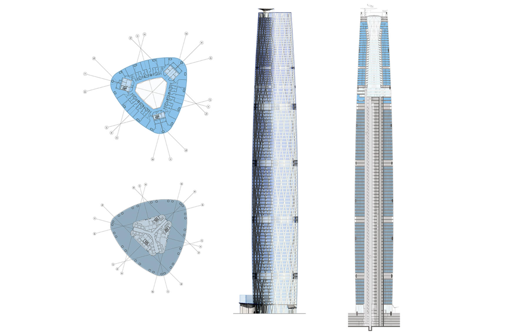 guangzhou international finance center wilkinsoneyre the tower s slender crystalline form acts as a landmark to guangzhou zhujiang new town s main axis linking the commercial district in the north with the