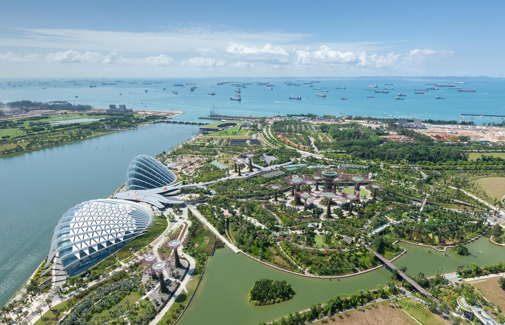 team that won the design competition for one of the most ambitious cultural projects of recent years the masterplan for singapores gardens by